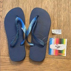Havaianas Shoes - Havaianas, 35-36, dark blue, wide strap, new